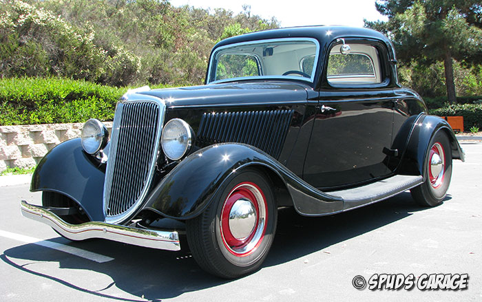 Spud 39 s garage 1934 ford 3 window cpe for sale for 1934 ford three window coupe for sale