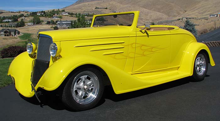 Spud's Garage - 1935 Chevy Roadster - Street Rod - For Sale