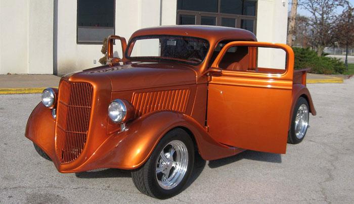 Spud 39 s garage 1936 ford pick up street rod for Garage ford orange