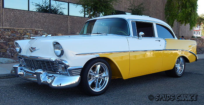 Spud's Garage - 1956 Chevy 210 Post GM Big Block 502 For