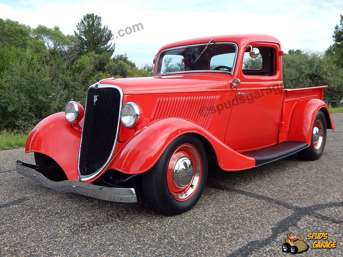 Spud 39 s garage 1933 ford ranchero all steel 5 0 tri power for Garage ford 33