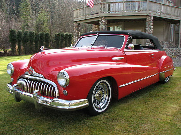Spud S Garage 1947 Buick Convertible Red For Sale