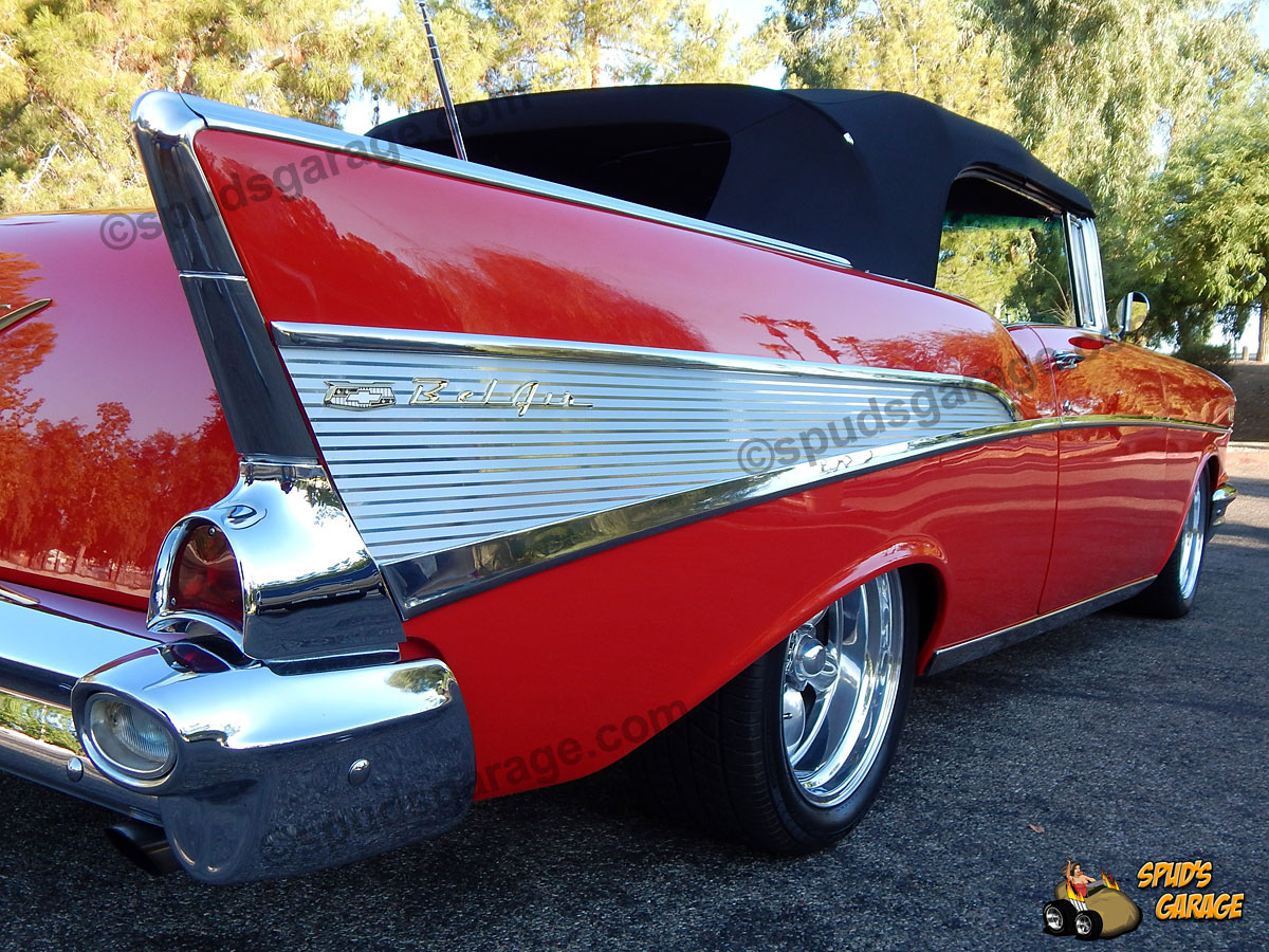 Spud's Garage - 1957 Chevy Belair Convertible - For Sale
