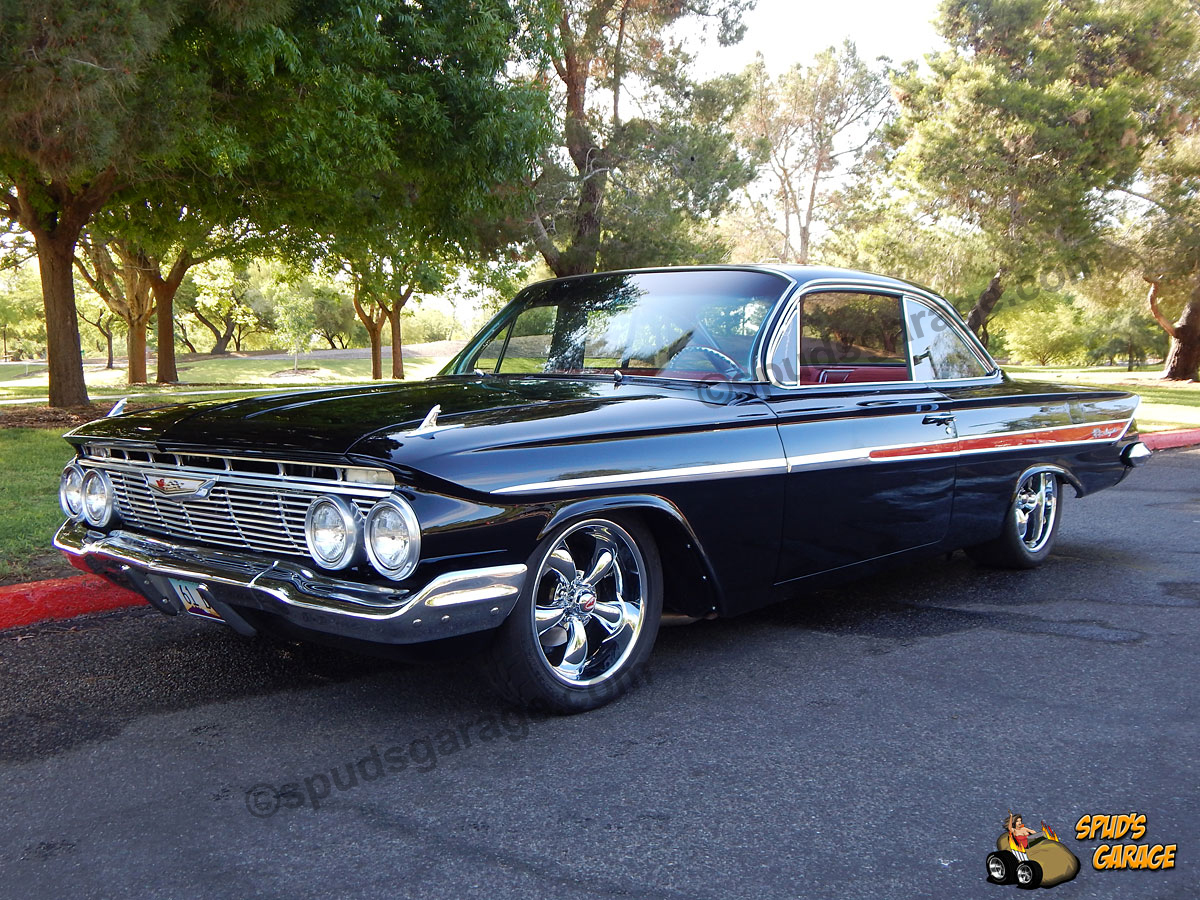 1961 Chevrolet Bubble Top Impala Spuds Garage 348 4 Speed Resto Mod Detail Photos